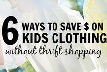 Ways to save money on Kids / Tips for saving money on kids.