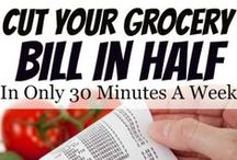 Saving Money on Groceries / Tips on cutting your grocery bills. Tips, tricks, and advice on saving money on groceries.