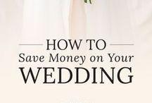 saving money on your wedding / Tips to save on your wedding. Tips, tricks, and advice for saving money on your wedding.