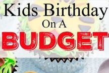 Kids birthday party on a budget / Save money on your kids birthday party. - Kids Birthday on a budget