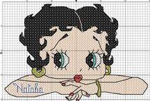 Cross stitch - Betty Boop