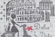 Cross stitch - towns and states
