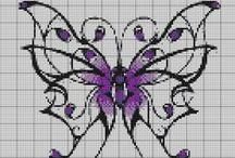 Cross stitch - butterflies