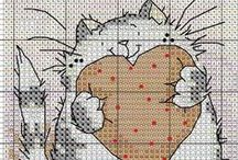 Cross stitch - cats