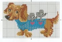 Cross stitch - dachshunds