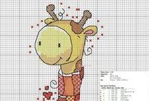 Cross stitch - giraffes