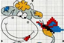 Cross stitch - cows
