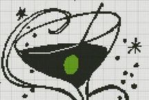 Cross stitch - drinks