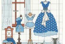 Cross stitch - clothes