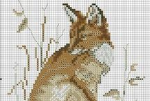 Cross stitch - foxes