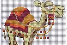 Cross stitch - camels