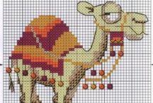 Cross stitch - camels