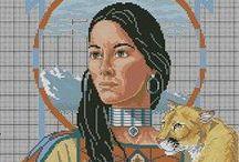 Cross stitch - Indians