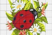 Cross stitch - ladybugs