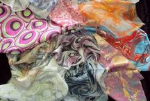 Fabric Marbling / Fabric Marbling. Follow me on a journey of experimentation and surprise while I marble meter lengths of fabric for clients or see what you can do with fabrics you have marbled yourself.