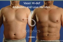 Vaser Lipo - Men / VASER Lipo ® System Liposelection is a new, patented technology that uses the gentle power of ultrasound to target only the fat you want removed, leaving all other tissues largely undamaged.   A large proportion of our Vaser Lipo Liposelection clients are men, with the most popular areas being the chest, abdomen, lower back (love handles) and neck/jawline. http://www.botonics.co.uk/treatments/vaser/#men