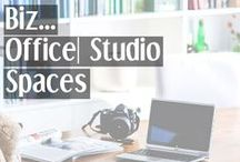 Biz → Office | Studio Spaces / Office space ideas and inspiration for all different size spaces