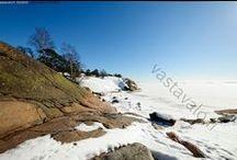 Hanko-Käyntikohteita / Päivä vaellus kohteita Hangon kallioisilla rannoilla.