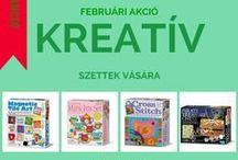 Februári akciós termékeink / Tavaszi dekorációk, kreatív szettek vására a Kreatív Lurkó játék webáruházban