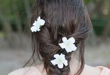-Barrettes- / Barrettes fleurs pour cheveux mariage, Hairpins for wedding hairdo with flowers
