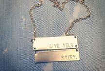 stamped jewelry / what's your story? live your story.