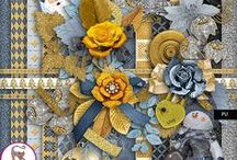 Welcome to the New Year / This kit is made of 15 papers and 28 elements. All papers are jpg files, 3600x3600, 300 Dpi The embellishments are png files, variable size, 300 Dpi. Happy scrap !