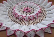 doilies,tableclothes runners / by Diana