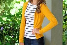 How to Wear: Mustard Cardigan