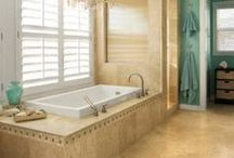 Home Inspiration - Bath / People spend lots of time in this room. Why not make it pretty?