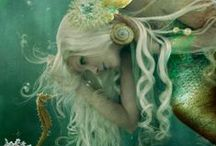 "Fantasy Ocean / ""I must be a mermaid ... I have no fear of depths and a great fear of shallow living."" ~Anaïs Nin"