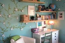 Home Inspiration - Office/Craft Space / Inspiration for an office, studio, or crafting space