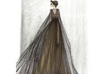 """fashion sketches / fashion design and  """"haute coutures"""" sketches"""