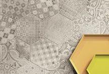 interior design: floors, tiles, coatings, wallpapers, decorative features.