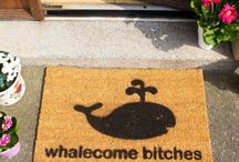 Very Funny Doormat Slogans / If you have a good sense of humour and like a welcome your guest with something a little different then check out the different doormat slogans on this board. Something for everyone at CKB Ltd.