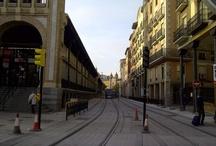 Mercado Central Zaragoza. Obras tranvia.