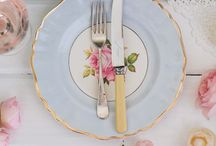 Tables / Vintage inspired beautiful table settings