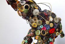 Botones/Buttons / Objetos con botones / by Edurne Rivas