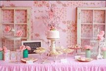 Simply Shabby / Sharing the beauty of a vintage shabby chic tea table.