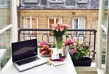 WORK PLACE inspiration / The perfect work place for the best ideas - stylish, cool and glamouros.