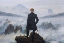 Malířství Romantismu v Evropě / - historické náměty - rozvoj krajinomalby - neobvyklé pohledy na proměny přírody,dramatické scenérie - náměty z divadel a literatury,lidový život -mění se styl malby, posouvají se hranice (Turner)