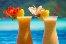 Tahitian Style Cocktails / French Polynesia has many tropical fruits and with the creativity of the Tahitians some amazing cocktails can be enjoyed while looking at a sunset over the lagoon. / by Atelier Leseine