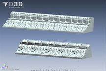 Molduras / Digitalización 3d de molduras para reproducirlas en madera