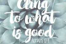 Inspirational Bible Verses / Scripture passages on all things money and more.