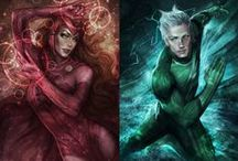 Scarlet witch and quicksilver