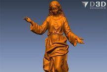Virgen con Ángeles / Escaneado 3d del modelado en barro del conjunto escultorico de la Asunción de la Virgen.