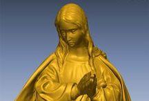Virgen Inmaculada / Escaneado 3d de Virgen Inmaculada con peana de ángeles
