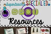Special Ed Spot's TPT Resources for Special Education / Teaching products made by Superteach56. This board includes both paid and free items from my TPT store for use with students in special education.