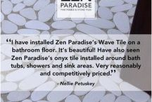 ZenParadise.net – Fine Pebble & Stone Tiles / Zen Paradise emphasizes the highest quality service in the business. We can adapt to a variety of customer needs and we treat each customer with equal importance and attention to detail no matter what the size of the project.  Zen Paradise is the natural selection for natural pebble and stone tiles that transform ordinary spaces into extraordinary destinations.