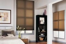 Pleated and Cellular Shades / These custom made shades provide the ultimate in control, available with sheer, privacy, room darkening and fire retarding fabrics and liners.