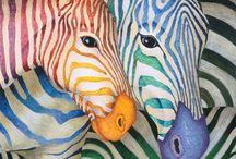Painted coloured animals / by Valmai Mc Queen